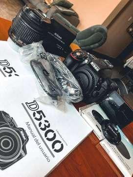Cámara Reflex Nikon D5300, Lente Af-p Dx 18-55mm
