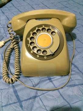 TELEFONO DE DISCO RETRO VINTAGE FUNCIONANDO PARA DECORACION