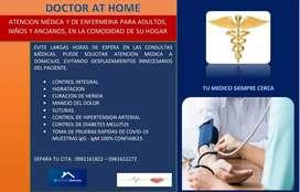 Atención médica a domicilio