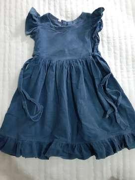 Vestido corderoy azul petróleo T4