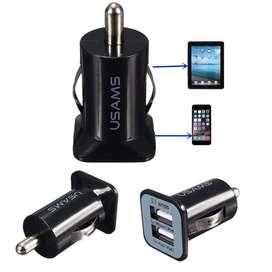 Cargador RAPIDO 3.1 AMPERIOS para auto doble puerto USB