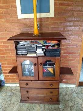 Mueble de Algarrobo Estante Cajonera