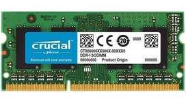 MEMORIA RAM DDR4 16GB BUS2666 CRUCIAL