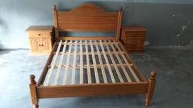 Juego Dormitorio 2 Plazas con Mesas de L