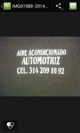Aire acondicionado automotriz. Para todo tipo de vehículo