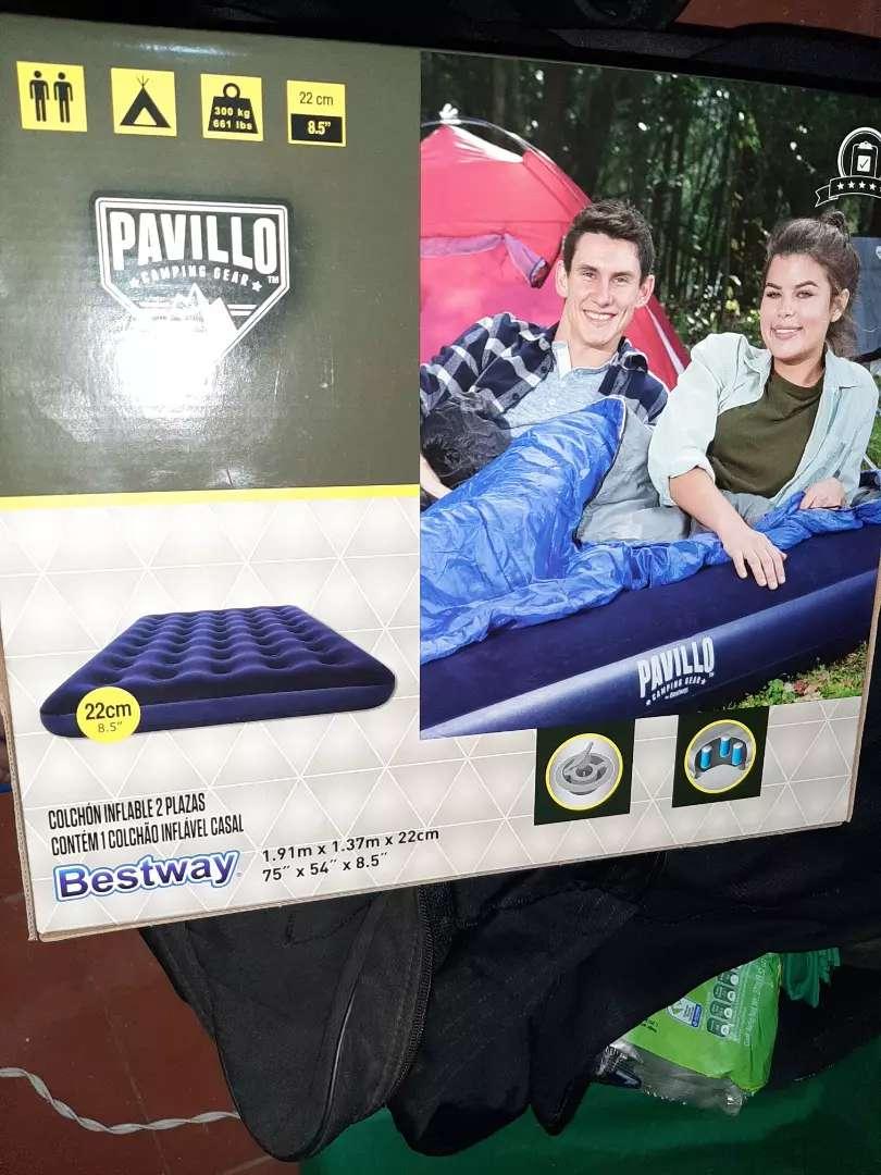 Vendo colchón inflable nuevo para dos personas 0