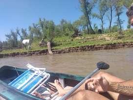Kayak doble con remos nuevos