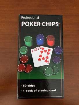 Set Juego Fichas y Cartas Poker