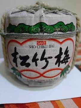 Botella cancecon vacío de Sake