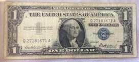 Billete de Coleccion de 1 Dolar Sello Azul