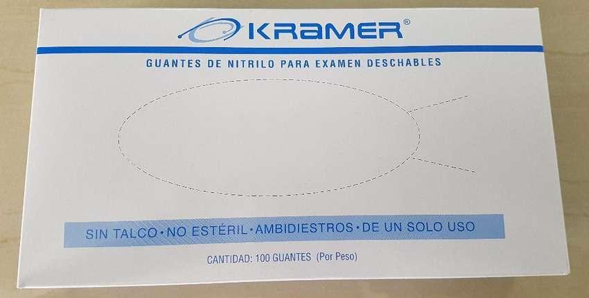 Guante de Nitrilo Marca Kramer Caja X 100 Und 0