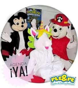 Fiestas infantiles, animadores, recreadores, pintacaritas, payasos, magia, decoraciones