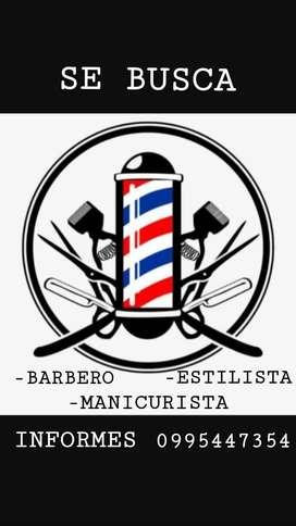 Busco Barbero, Manicurista y Estilista Para la Ciudad de Salcelo