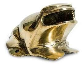 Juego de rana en bronce y aluminio