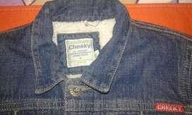 superoferta campera cheeky de jeans con corderito talle XL