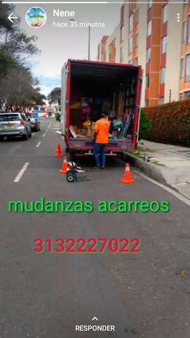 Camión de mudanza viajes nacionales Bogotá César guajira encomiendas envíos mudanzas acarreos trasteos