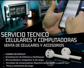 Servicio Tecnico de Pc, Laptos, Tables y Celulares.