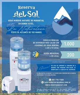 Servicio de agua mineral y dispenser