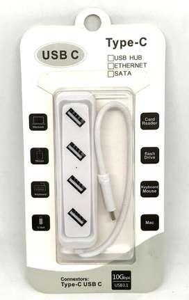 HUB multipuerto USB tipo C a 4 puertos USB
