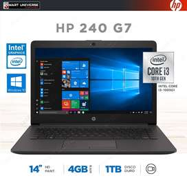 Laptop Hp Core I3 10ma Generacion 14 PuLG 4gb Ram 1tb Win 10