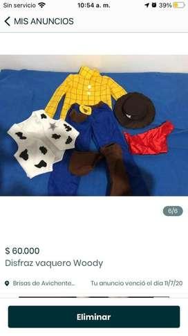 Vendo disfraz de vaquero Woody
