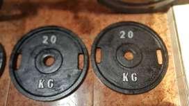 discos de 20 kilos