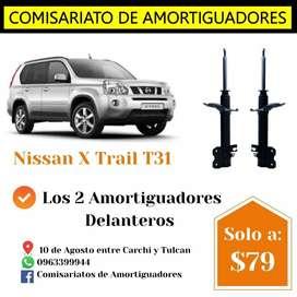 Amortiguadores del Nissan Xtrail T31
