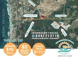 !!INVIERTE HOY MISMO 90 USD DE ENTRADA¡¡ TERRENOS DESDE 155M2, EN LA RUTA SPONDYLUS EN LA PLAYA DE PUERTO CAYO, S1