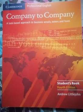 LIBRO DE ENGLISH COMPANY TO COMPANY