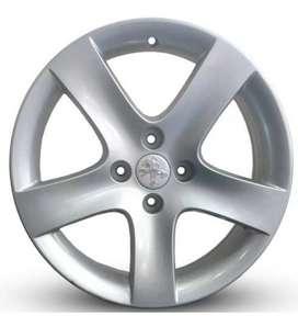 "Llantas Peugeot 17"" 408 allure 5 rayos"