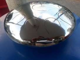 Zen Tambour cromado, corte láser. Tank drum, hanpan, hang drum
