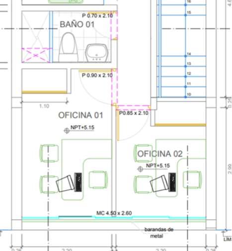 ALQUILO OFICINAS  A 550 SOLES MENSUAL C/U