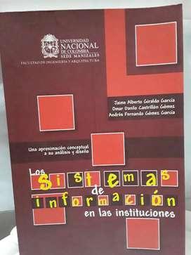 """Libro """" LOS SISTEMAS DE INFORMACION EN LAS INSTITUCIONES"""""""