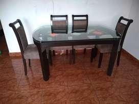 Remato sala y comedor por mudanza (sillones, mesa y sillas)