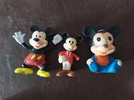 lote de antiguos muñecos mickey