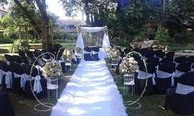 portales para ceremonias y paredes para fondos de bodas