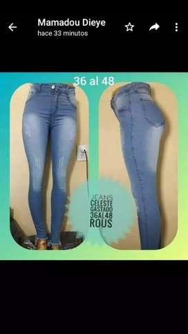 Jeans Elastizados de DAMA (NUEVOS). Talles del 38 al 46.