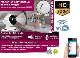 Camara Ip Wifi Inalambrica Celular HD Nocturna Grabación VídeoMicro Sd