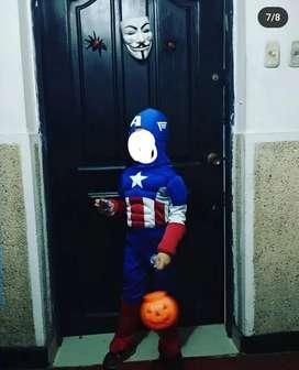 disfraz capitán América marvel niño/niña talla 6