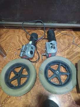 Motor eléctrico para silla de ruedas con llantas