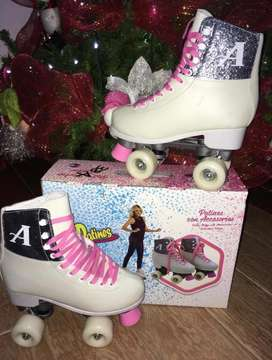 010 patines Artisticos blancos