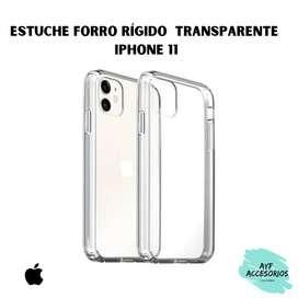 Estuche Para iPhone 11  Transparente Rígido