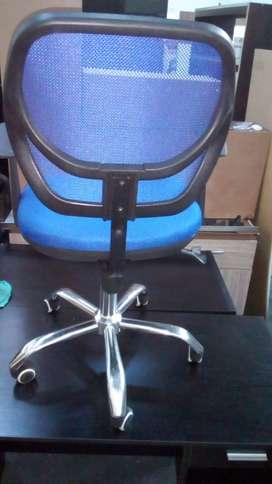 Silla De Oficina Pequeña Usada, Azul Funcional jyx0123