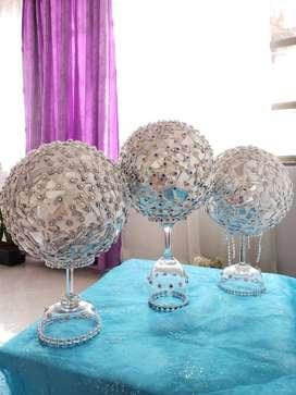 Bolas decorativas tipo mosaico en cristal