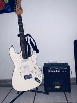 Guitarra eléctrica y amplificador(Precio negociable )