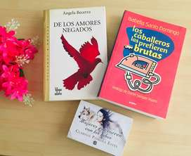 3 libros de literatura Mujeres