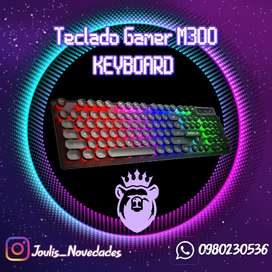TECLADO GAMER M300 LED