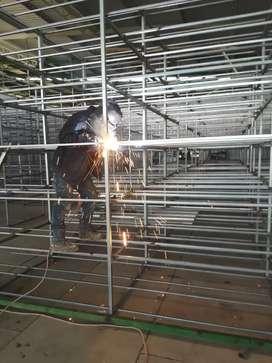 Realizó todo tipo de trabajos en estructuras metálicas