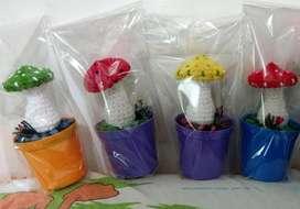 Honguitos Tejidos a Crochet