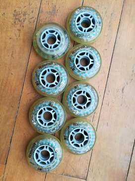 Ruedas patin skate en linea Explore Escalade 80mm 82A Inline Skate Wheels 8 Pack